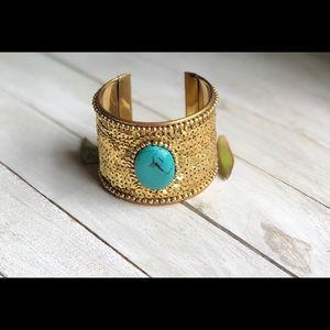 Nefertiti Inspired Cuff Gold Bracelet